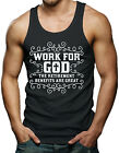 Work For God, The Benefits Are Great - Religious Men's Tank Top T-shirt