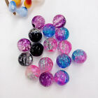 Wholesale 100pcs Crystal Crack Glass Round Loose Spacer Beads 8mm Craft DIY