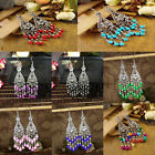 Women Vintage Fashion Bohemian Boho Multi-color Beads Dangle Alloy Drop Earring