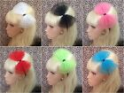 ♥ BIG NET TULLE TUTU BOW SATIN ALICE HAIR BAND HEADBAND 80s STYLE PARTY FANCY