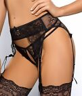 "PROVOCATIVE EROTIC ""TAME ME"" AXAMI V-5352 AND V-5358 OPEN CROTCH G-STRING & BELT"