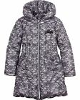 Le Chic Girl's Puffer Coat in Lace Print, Sizes 4-14