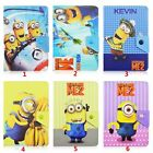 Cartoon Minions Flip PU Leather Case Cover For Universal 10 10.1 tablets PC