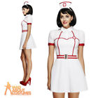Fever Bed Side Nurse Costume Sexy Ladies Uniform Fancy Dress Outfit UK 8-18