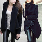 New Womens Trench Slim Winter Warm Coat Long Wool Jacket Outwear Parka OvercoatF