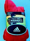 Athletic socks 2 PAIR PACK baseball Adidas Youth adult mens black red blue S  L