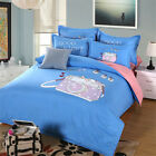 Fresh Printed Home Textile 4 Piece Fitted Sheet Bed Sheet Bedclothes Bedding Set