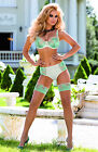 EUROPEAN MADE ROZA STUNNING GARYCA DELICATE LACE PINK OR MINT THONG OR BRIEFS