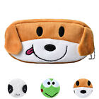 Lovely Cartoon Pencil Case Kids Coin Bag Purse Plush Large Pen Bag Stationery