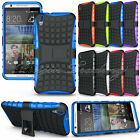Hybrid Heavy Duty Impact Hard Back Case Cover Stand For HTC Desire 820/620/M10