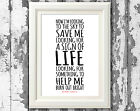 Foo Fighters Learn To Fly Music Song Lyric Posters Lyric Music Art Print Only