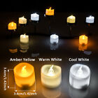 6 PCS LED Flicker Tealight Candles Flameless for Wedding/Party Decorations White