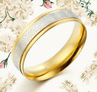 18K Gold Filled Silver One Wedding Titanium Ring for Her Him GMUS080 Z2