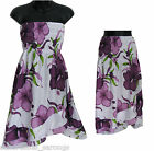 Purple Floral Cover-Up SunDress or Skirt-NEW-Sizes S, M, L Beach/Summer