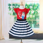 Disney Princess Snow White Dress Tutu Skirt Outfit Girls Kids Baby Mesh Costume