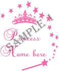 PRINCESS IRON ON TRANSFER PERSONALISED FREE - BIBS, TEES Etc - REF 05-01