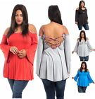 NEW Trending COLD SHOULDER Cross Back Top PLUS SIZE 1X 2X 3X Free Ship