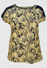 New with tags Tommy & Kate Navy & Yellow Swirl Top Plus Size 12/14 16/18 & 20/22