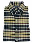 Ralph Lauren Button Down Dress Shirt Custom Fit Pony Plaid Oxford Long Sleeve