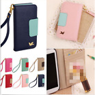 new PU leather phone case cover wallet card holder pouch flip for iPhone Galaxy