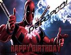 Deadpool Personalized Edible Print Premium Cake Topper Frosting Sheets 2 Sizes