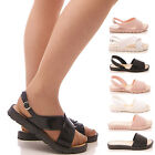 LADIES WOMENS JELLY SANDALS JELLIES HOLIDAY SUMMER BEACH FLAT SHOES SIZE