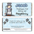 Personalised Wedding Boys Chocolate Bar Page Boy Thank you Gift Idea P0515F58