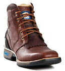 Men's Cinch WRX Square Toe Lace Up Work Boots Dark Brown Leather WXM120
