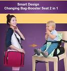 On the go Baby Nappy Changing Bag Travel Booster Seat 2 in 1 Great Design NEW