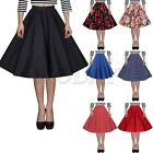 NEW Vintage 50s Rockabilly High Waisted Swing Midi Party Prom Skirt A-Line Dress