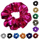 Metallic Spandex Hair Scrunchies Many Colors 3 Sizes Mini Stand Jumbo Made in US