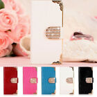 Luxury Diamond Magnetic Bling Flip Wallet PU Leather Case Cover For Samsung S6