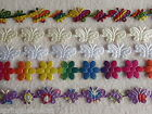 BUTTERFLY & DAISY RIBBON ~ CRAFTS ~ TRIMMING ~ EMBELLISHMENTS ~ APPLIQUE