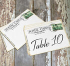 LARGE DOUBLE or SINGLE SIDED POSTCARD WEDDING TABLE CARDS, or SIGNS #619