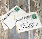 DOUBLE or SINGLE SIDED PRIVATE MAIL POSTCARD WEDDING TABLE CARDS or SIGNS #167