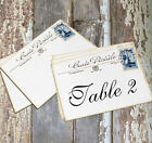 LARGE DOUBLE or SINGLE SIDED FRENCH POSTCARD WEDDING TABLE CARDS or SIGNS #150