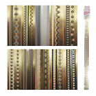 ST39 1 Sheet, 20 Sheets Nail Art Long Lace Sticker-10 Styles