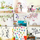 Jungle Monkey Blossom Removable Art Vinyl Quote Wall Stickers Decal Mural Home