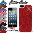 Glitter back shiny hard case cover for apple iphone 5 or 5s