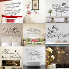 Family Quotes Words Removable Wall Stickers Art Vinyl Bedroom Decal Home Decor