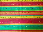 Yellow Orange Quilting Fabric Christmas Striped Pattern By the Yard Fat Quarter