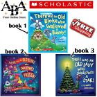 Scholastic books, there was an old bloke who swallowed, there was an old lady