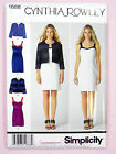 Simplicity 1688 Sewing Pattern Ladies Dress & Jacket - Cynthia Rowley
