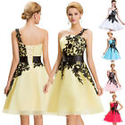 WHITE Prom Vintage One Shoulder 50s Homecoming Spring Party Formal Evening Dress