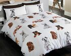 Dogs Duvet Set Cute Puppy Dog Quilt Cover Pillow Case Bed Linen Single Bedroom
