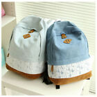 Useful Girl's Vintage Denim Satchel Backpack Rucksack Shoulder School Bag Best