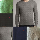 BNWT Polo Ralph Lauren Mens Cable Knit Jumper Sweater Pullover Top New S M L XL