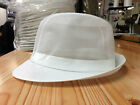 White Trilby Hat With White Ribbon, Butcher Bakery Food Hygiene Fish Hospitality