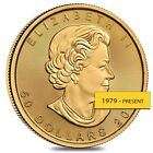 1 oz Canadian Gold Maple Leaf Coin (Random Year)