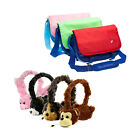 "Kids Messenger Bag with Animal Headphones for Leappad Innotab & 5"" 6"" 7"" Tablets"